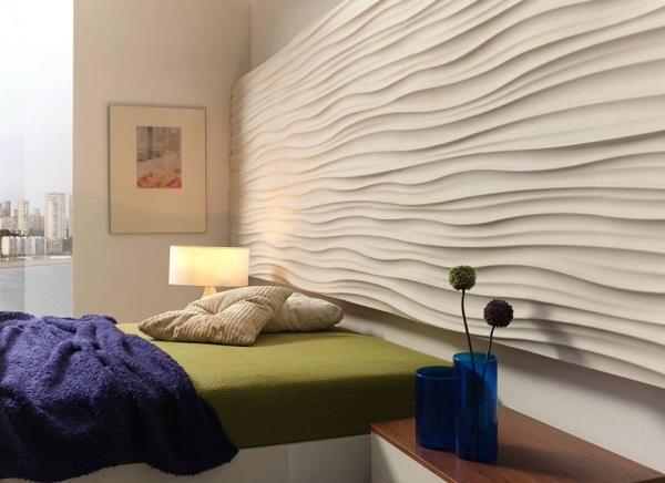 paneles decorativos en tonos blancos para dormitorios