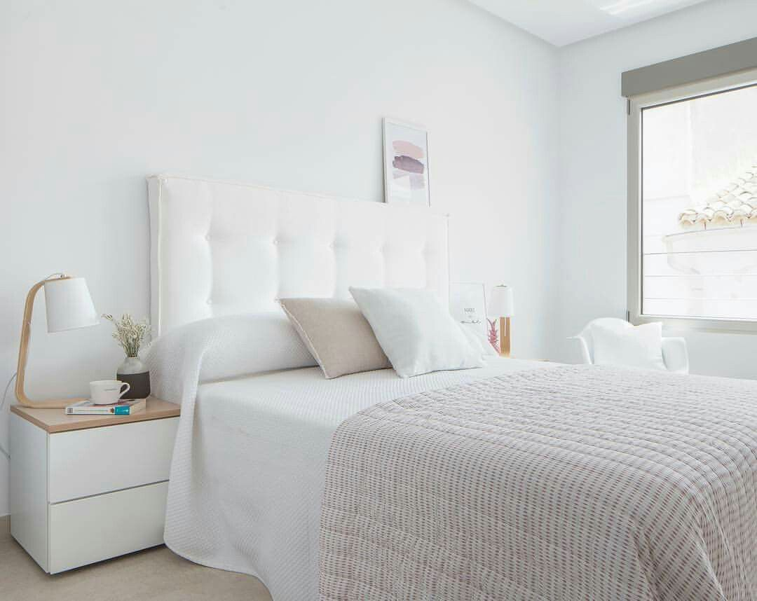Paredes dormitorio en blanco. Como destacar con estilo y personalidad
